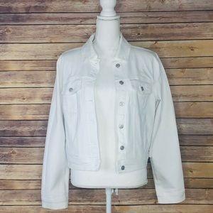 Stitch Fix Just USA Womens White Denim Jacket